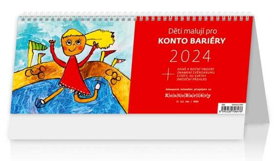 Stolní  kalendář 2018  Děti malují pro Konto Bariéry