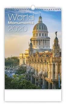 Nástěnný kalendář 2018 World Monuments