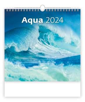 Nástěnný kalendář 2018 Aqua