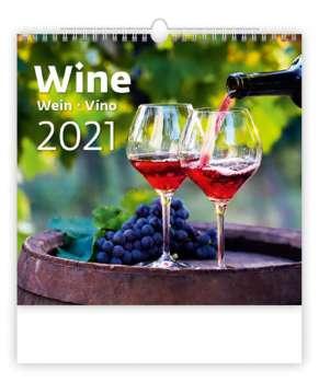 Nástěnný kalendář 2017 Víno - Wine