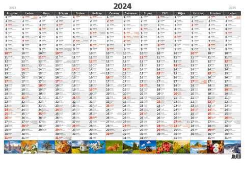 Plánovací roční mapa 2017 obrázková A1
