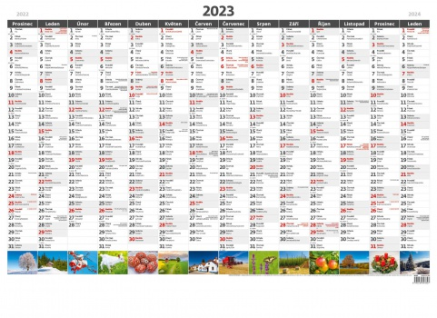 Plánovací roční mapa A1 obrázková