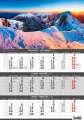 Tříměsíční nástěnný kalendář 2022 Hory