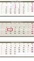 Nástěnný kalendář 2017 tříměsíční skládaný - šedý
