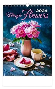 Nástěnný kalendář 2017 Živé květy - Magic Flowers