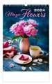 Nástěnný kalendář 2018 Živé květy - Magic Flowers