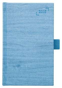 Týdenní  kapesní diář 2017 Wood - světle modrý