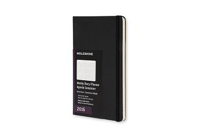 Týdenní diář 2017 Moleskine, pocket, pevné desky