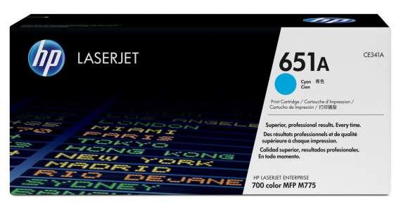 Toner HP CE341A/651A - azurový