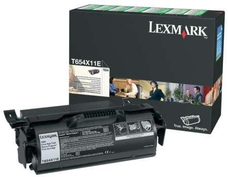 Toner Lexmark T654X11E - černá