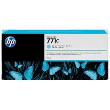 Cartridge HP B6Y12A/771C - světle azurová