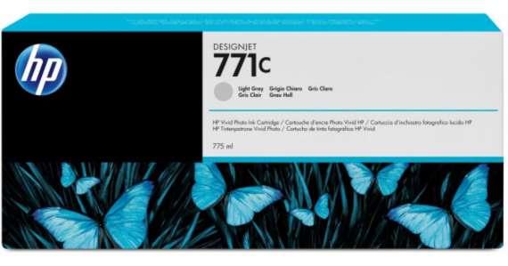 Cartridge HP B6Y14A/771C - světle šedá