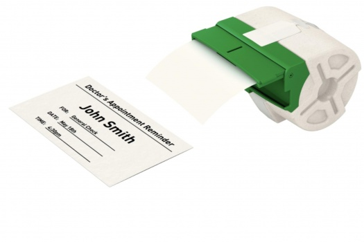 Papírová páska Leitz Icon bez lepidla - bílá, šířka 91 mm, návin 22 m, černé písmo