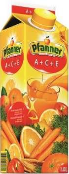 Nektar Pfanner - ovocný a zeleninový nápoj, 1 l