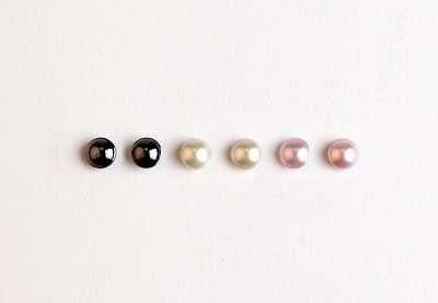Sada náušnic s perlami Swarovski Elements, 3 páry