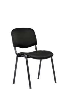 Konferenční židle ISO N - černá, kostra černá