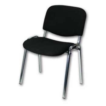 Konferenční židle Taurus černá, kostra chrom