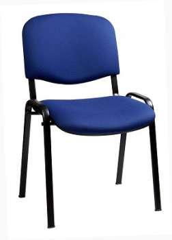 Konferenční židle Taurus modrá, kostra černá