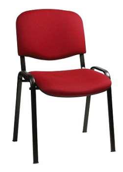 Konferenční židle Taurus červená, kostra černá