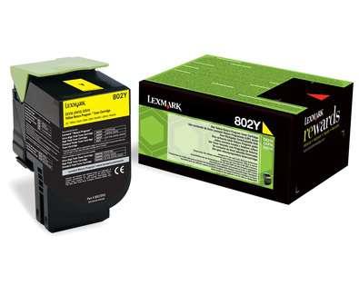 Toner Lexmark 80C20Y0 - žlutá