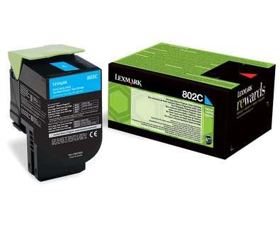 Toner Lexmark 80C20C0 - azurový