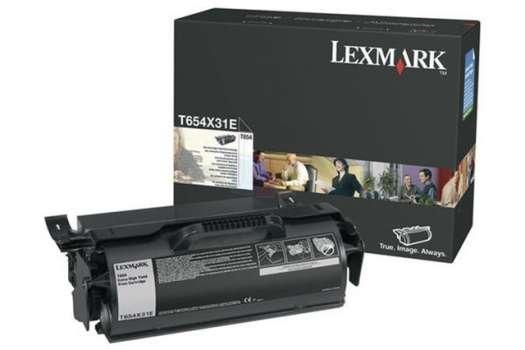 Toner Lexmark T654X31E - černá