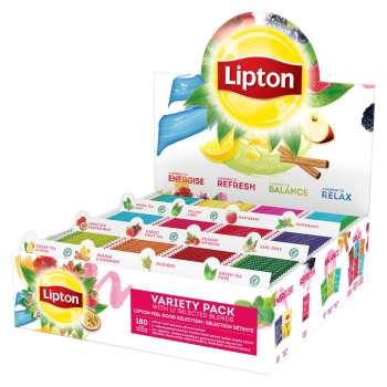 Sada čajů Lipton MIX BOX - 12 x 15 druhů