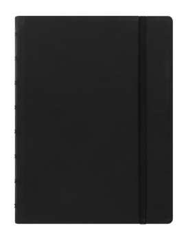 Zápisník Filofax Notebook-  A5, linkovaný, černý