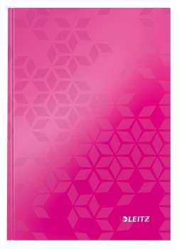 Zápisník Leitz WOW - A5, linkovaný, růžový