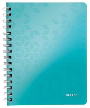 Blok Leitz WOW - A5, PP, linkovaný, ledově modrý