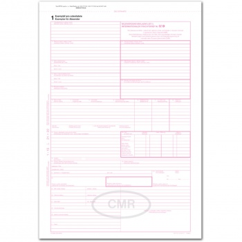 CMR - Mezinárodní nákladní list (ČJ/NJ), číslovaný
