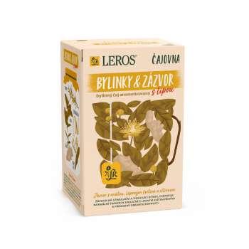Čaj Leros Vital - zázvor s lípou a citronem, 20 x 2 g