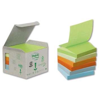 Z-bločky Post-it - recyklované, 76,0 x 76,0 mm, mix barev