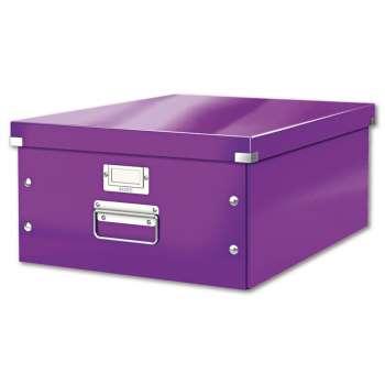 Box CLICK-N-STORE A3, WOW - purpurový