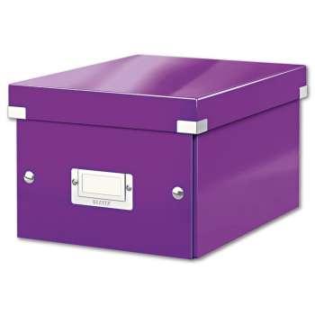Box CLICK-N-STORE WOW - A5, purpurová