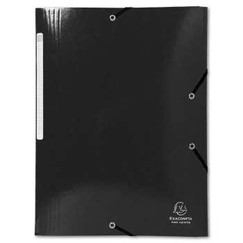 Desky s chlopněmi a gumičkou Iderama - A4, černá