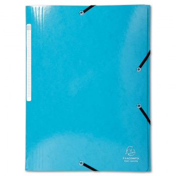 Desky s chlopněmi a gumičkou Iderama - A4, světle modrá