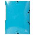 Desky s chlopněmi a gumičkou Iderama A4 - světle modrá