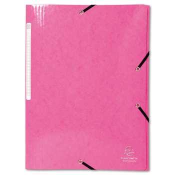 Desky s chlopněmi a gumičkou Iderama - A4, růžová