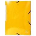 Desky s chlopněmi a gumičkou Iderama - A4, žluté, 1 ks