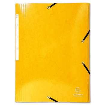 Desky s chlopněmi a gumičkou Iderama - A4, žluté