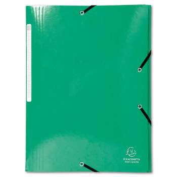 Desky s chlopněmi a gumičkou Iderama - A4, tmavě zelené