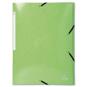 Desky s chlopněmi a gumičkou Iderama - A4, limetkové
