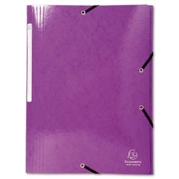 Desky s chlopněmi a gumičkou Iderama - A4, purpurová