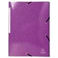 Desky s chlopněmi a gumičkou Iderama - A4, purpurové, 1 ks