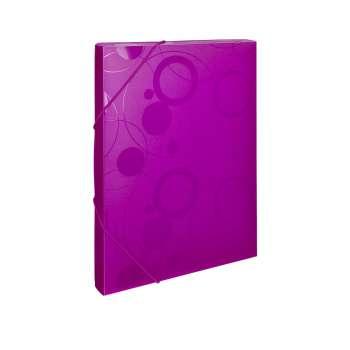 Plastový box s gumičkou NEO COLORI - A4, růžový
