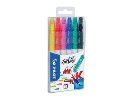 Gumovací fixy FriXion Colors - sada 6 barev