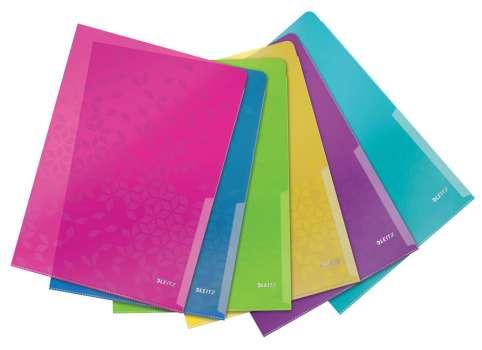Obaly WOW na doklady L - A4, 6 ks, mix barev