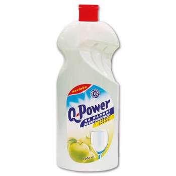 Prostředek na nádobí Q-power - jablko, 1 l