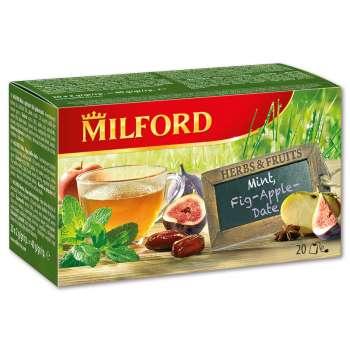 Mátový čaj Milford s fíky, 20x 2 g
